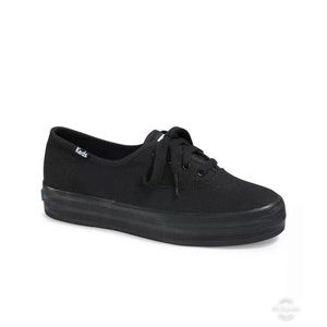 NEW Keds Black Solid Sneaker Size US 7M Women